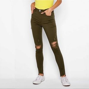 Express | High Rise Jeans | Green